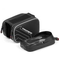 tubo negro movil al por mayor-PROMENDA la bolsa de bicicleta bolsa de sillín de tubo de bicicleta de montaña equipo de conducción de teléfono móvil con pantalla táctil impermeable