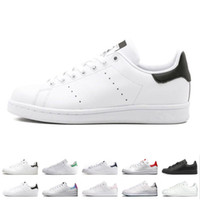 Wholesale top brand shoes boots resale online - Top quality Smith shoes Brand mens womens stan casual leather sports sneakers Skateboard running shoes size eur