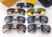 Wholesale designer blocks resale online - Vintage popular designer sunglasses for men attitude metal square frame blocks uv400 lens outdoor protection eyewear with orange box