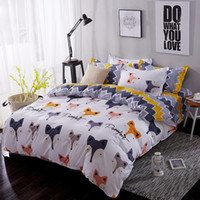 Wholesale pink white black bedding for sale - Group buy Home Textile Cartoon Fox Bedding Sets Children s Beddingset Bed Linen Duvet Cover Bed Sheet Pillowcase bed Set