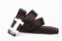 Wholesale brand designer h buckle belts men resale online - Fashion Brand With Box Belt Genuine Men Belt Designer Luxury High Quality H Smooth Buckle Mens Belts For Women Luxury Belt