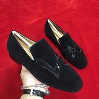 zapatos de vestir oxford para mujer al por mayor-Zapatos casuales Para hombre Para mujer Bajo Negro Diseñador LOVE Patrón Rodillo Pisos de barco Cuero de gamuza Hombres de negocios Vestido de Oxford