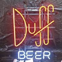 ledli bar göstergeleri toptan satış-Duff BIRA LED Neon Burcu Işık Özel Açık Bar Club Ekran Eğlence Dekorasyon Neon Lamba Işık Metal Çerçeve 17 '' 20 '' 24 '' 30 ''