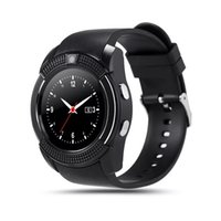 Wholesale micro gsm online - V8 Smart Watch Bluetooth Watches GSM Phone with M Camera MTK6261D Smartwatch for Android IOS Phone Micro Sim TF card with Retail Package