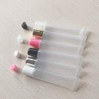 Wholesale plastics hose resale online - 10ml ml Empty Lipstick Tube Lip Balm Soft Hose Makeup Squeeze Sub bottling Clear Plastic Lip Gloss Container F606