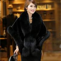 ingrosso nuovo cappotto di pelliccia di visone-Pelliccia di visone lungo tratto femminile con visone capelli nuova versione coreana dello scialle in pelliccia di volpe finta