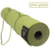 Wholesale yoga losing weight resale online - Matmats TPE Camping Yoga Mat Non Slip Double Layers With Adjustable Strap Healthy Lose Weight For Yoga mm cm cm