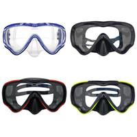 óculos de mergulho venda por atacado-Máscara de Mergulho Óculos de Mergulho Criança Crianças Máscara de Mergulho Óculos de Visão Ampla Óculos de Natação Equipamentos de Treinamento