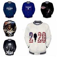 uniforme de beisebol feminino venda por atacado-Donald Trump 2020 Jaqueta De Beisebol dos homens mulheres 3D impressão Outono Inverno uniforme de Beisebol Roupas Masculino feminino casaco outwear camisola LJJA2798