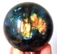 ingrosso vendita di palline di cristallo di quarzo-Nuovi arrivi 100% naturale di cristallo di quarzo Labradorite guarigione palla in vendita. Q190522