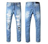 Wholesale whisker jeans for sale – denim A MIRI men s trade men s wear cat whisker rivet jeans casual slim leg pants hot sale pants hot style