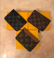 anahtarlık kart tutucuları toptan satış-2018 Erkek Klasik Tasarım Casual Kredi Kartı KIMLIK Tutucu Hiqh Kaliteli Deri Mans Için Ultra Ince Cüzdan Paket Çanta Womans Anahtarlık