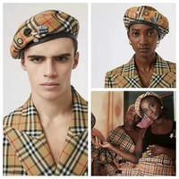 mode baskenmützen großhandel-2019 Haute Couture Newsboy Hüte hochwertige Baskenmützen Winter Herbst Modedesigner elegante Hüte für Männer und Frauen