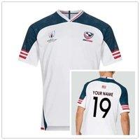 takım usa gömlek toptan satış-ABD EV 2019 JERSEY Japonya Samoa Dünya Kupası FIJI ev Forması gömlek milli takım rugby formaları Boyutu S-3XL (yazdırabilirsiniz)