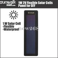 células solares dobráveis venda por atacado-Freeshipping 5 PCS de Alta Qualidade 0.5 W 2 V Flexível Solar Cellular Silício Amorfo Dobrável Muito Magro Painel Solar DIY carregador