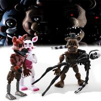 osito de peluche de anime al por mayor-6pcs / set Figuras Juguetes Cinco Noches en Freddy 'S Figura de Acción Juguete Fnaf Teddy Bear Freddy Fazbear Oso Figuras de Anime Freddy Juguetes
