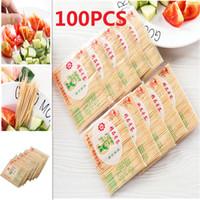 zahnstocher bambus großhandel-100PCS / Bag Einweg-Holz Dental natürliche Bambus Zahnstocher Für Privatanwender Restaurant Hotel Produkte Toothpicks