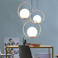 küchenkugel deckenleuchten großhandel-Ball Pendelleuchten LED Küche Leuchten LED-Lampen-Nachthängelampe Deckenleuchten Schlafzimmer Wohnzimmer Beleuchtung