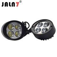 reflector led motocicleta al por mayor-JALN7 Faros de motocicleta 12V 24W LED Moto Reflector Luces de espejo laterales Moto Faros de conducción Lámparas de trabajo puntual DRL