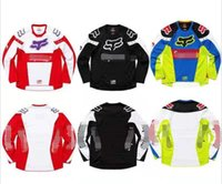 Wholesale anti uv clothes for sale - Group buy 2020 hot sale speed drop service fox head bicycle racing Jersey long sleeved locomotive clothing manufacturers custom