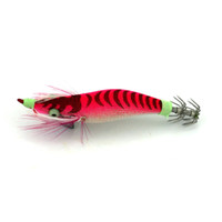 ingrosso attrezzatura da pesca-Gambero di legno luminoso 7.8g 8.2cm Amo di calamaro Richiamo di pesca Night Squid jig Catch Fish Tackle