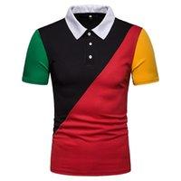 tastencodes großhandel-Das farblich passende Hemd der Frühlingsmänner Polo-Shirt Kurzarm-Freizeitknopfdesign des europäischen Codes