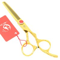 Wholesale golden hair cutting scissors for sale - Group buy Meisha Inch Golden Salon Hair Thinning Scissors Beauty Razors Japan CR Hairdresser s Cutting Shears for Barber Shop HA0342