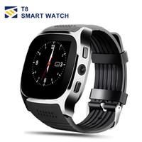 t8 uhr großhandel-Für apple iphone android t8 bluetooth smart watch tracker schrittzähler sim tf karte mit kamera anruf nachricht smartwatch pk dz09 u8 q18 fitbit