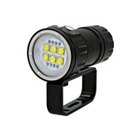 lanterna de mergulho tático venda por atacado-20000lm Super Brilho LED Fotografia Tocha Underwater Video Lighting Para Mergulho Profissional de Mergulho Lanterna Led Tactical Fleshlight