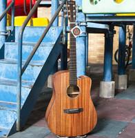Wholesale songs lights resale online - standard Veneer acoustic guitar inch full mahogany folk songs mid range light wooden guitar