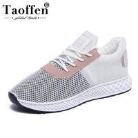 nuevo estilo de calzado plano al por mayor-TAOFFEN Nuevo estilo de las mujeres zapatos de los planos de las zapatillas de deporte de la manera Zapatos ocasionales de las mujeres diario Street Walk señora oficina calzado tamaño 35-39