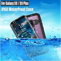 ip68 kılıf toptan satış-Samsung Galaxy S9 / S9 Artı Not 8 9 Vaka RedPepper Dot Serisi IP68 Su Geçirmez Dalış Sualtı PC + TPU Zırh Kapak S901