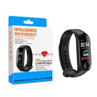 janelas huawei inteligentes venda por atacado-M3 pulseira inteligente monitor de pressão arterial de freqüência cardíaca pulso pulseira de fitness oled tracker watch para iphone xiaomi huawei mi mi ...