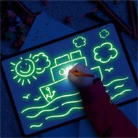 placa luminosa venda por atacado-Luminous escrita manual Boards Light Up Drawing Kit 3D Desenhar com luz Fun Pintura Board Hot Sale 2020 12 5mt H1