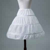Wholesale accessories white short dress for sale - Group buy White Children Petticoats Short For Flower Girl Dress Slit Wedding Accessories Girls Kids Crinoline Underskirt