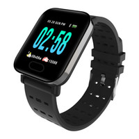 ingrosso monitor di mele-Braccialetto astuto impermeabile del braccialetto di frequenza cardiaca del braccialetto di frequenza cardiaca del braccialetto astuto di pressione astuta di A6 Fitbit Sports IP67