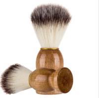 yüz fırça ahşap toptan satış-Adam Tıraş Sakal Fırçası Ahşap saplı Yüz Sakal Temizleme Erkekler Tıraş Jilet Fırça Temizleme aracı KKA6829