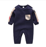 Wholesale boys one piece pajamas resale online - Newborn Baby Boys Girls Cotton Jumpsuits Outfits Casual Long Sleeve Toddler Infant baby Rompers Pajamas Children s Overalls One Piece M