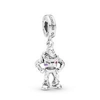 encantos de cuentas de plata de ley 925 al por mayor-925 perlas de plata esterlina Disny, juguete, Buz Lightpendant Charm se adapta a las pulseras de joyería Pandora estilo europeo collar 798042CZR