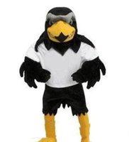trajes por encargo para la venta al por mayor-2019 venta caliente Profesional por encargo de lujo de la felpa del halcón traje de la mascota del tamaño adulto Eagle Mascotte Mascota Carnival Party Cosply Costum