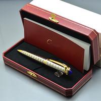 ingrosso scrivere penna a sfera-Top regalo di compleanno di lusso - Cartoleria di alta qualità Branding Penna a sfera materiale scolastico per la cancelleria Scrittura di penne a sfera