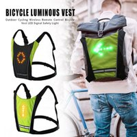 führte weste sicherheit großhandel-Fahrradweste LED Funkfernbedienung Nachtsicherheitswarnleuchte