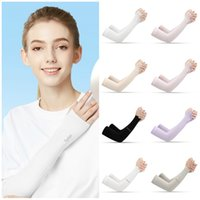 Wholesale fashion arm sleeves for sale - Group buy fashion Sun protection sleeve summer men s and women s Ice sleeve outdoor riding military training driving arm sleeve T2I5969