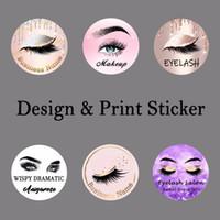 diseños de pegatinas al por mayor-Logotipo y diseños para etiqueta privada (utilizada para pestañas bonitas de pestañas de visón 3D naturales pestañas falsas 100 estilos)
