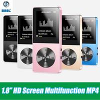 flash-sport-lautsprecher großhandel-Hifi USB Metall MP3-Player LCD-Schirm Unterstützungs 8gb Micro SD-TF-Karte Sport Fashion MP4 Flash Video Player Walkman mit Lautsprechern
