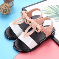 Wholesale boys jellies shoes resale online - New Summer Melissa Jelly Style Mini Shoes Girl Non slip Kids Beach Sandal Toddler shoe Soft Sandals