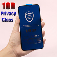 Wholesale mirrored iphone screen protector online – 10D Full Cover Privacy Screen Protector for iPhone Pro XS Max XR X Plus Curved Edge Anti Spy Tempered Glass