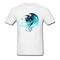 dices branco venda por atacado-Mais recente Dragão Impressão Homens T-shirt Branco Keeper Of The Dice Desenho Dos Desenhos Animados Macho Camiseta de Algodão Slim Fit Tops Elegantes