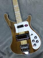 nouvelle guitare basse achat en gros de-NOUVEAU 4003W Basse En Noyer Naturel RARE TRANSLUCENT NOYER vintage 4003 ric Basse électrique Cou Cou Par Le Corps Un PC Cou Corps