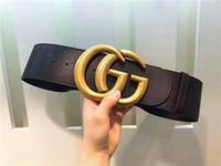 ingrosso cinture larghe per signore-Consegna gratuita Nuovo Designer Nero Cowskin Belt 1-125 Alta qualità Cowskin Belt 7.0 cm Wide Lady Cintura di marca di alta qualità